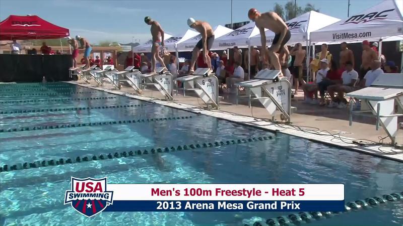 Men's 100m Freestyle Heat 4 - 2013 Arena Mesa Grand Prix