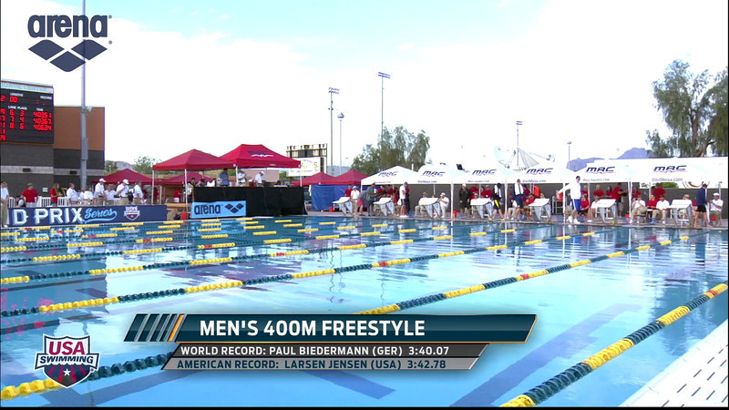 Men's 400m Freestyle A Final - 2013 Arena Mesa Grand Prix