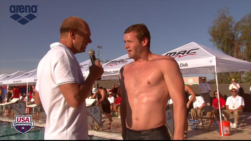 Men's 200m Butterfly Interview - 2013 Arena Mesa Grand Prix