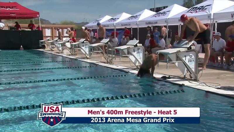 Men's 400m Freestyle Heat 5 - 2013 Arena Mesa Grand Prix