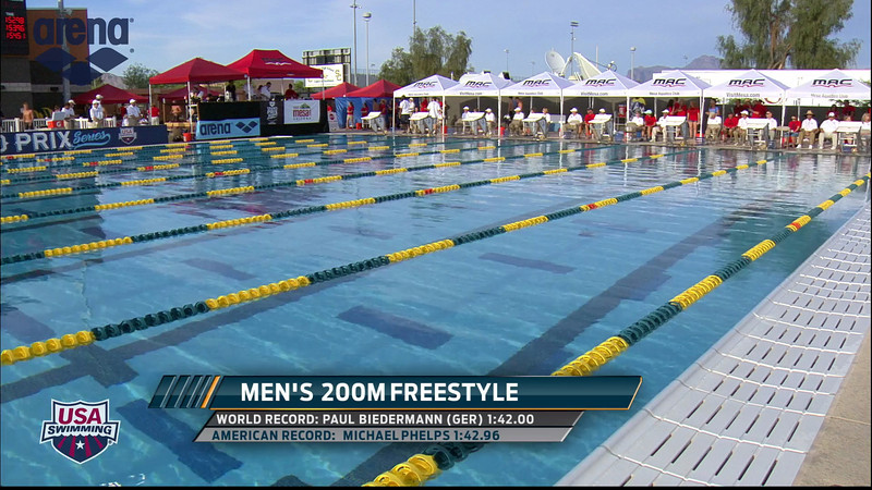 Men's 200m Freestyle A Final - 2013 Arena Mesa Grand Prix