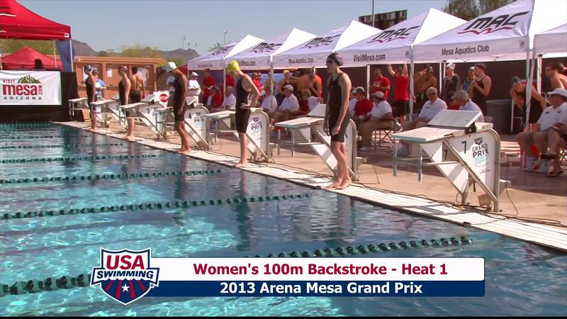 Women's 100m Backstroke Heat 1 - 2013 Arena Mesa Grand Prix