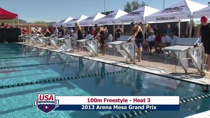 Women's 100m Freestyle Heat 3 - 2013 Arena Mesa Grand Prix