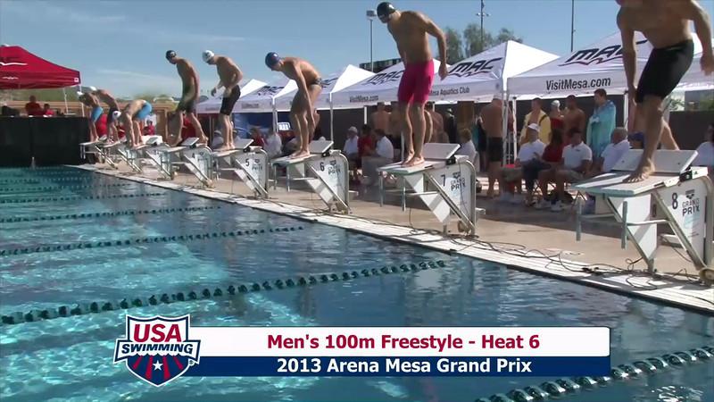 Men's 100m Freestyle Heat 5 - 2013 Arena Mesa Grand Prix