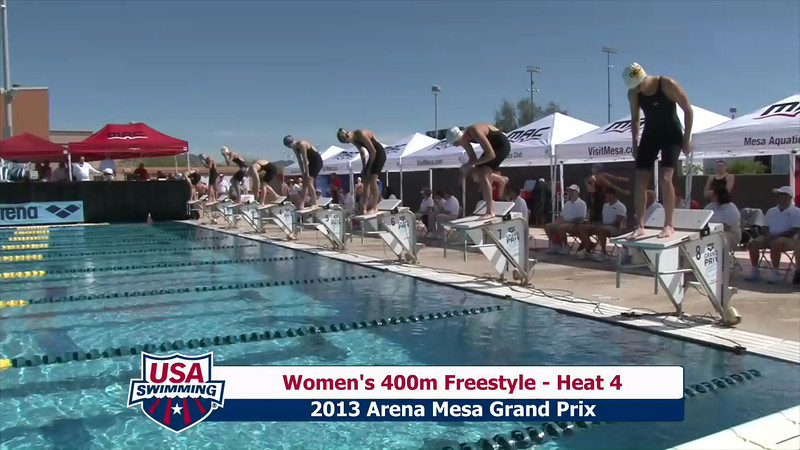 Women's 400m Freestyle Heat 4 - 2013 Arena Mesa Grand Prix