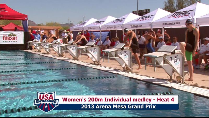 Women's 200m Individual Medley Heat 4 - 2013 Arena Mesa Grand Prix