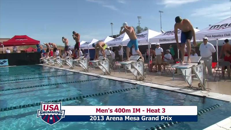 Men's 400m Individual Medley Heat 3 - 2013 Arena Mesa Grand Prix