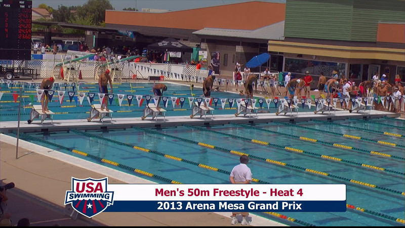 Men's 50m Freestyle Heat 4 - 2013 Arena Mesa Grand Prix