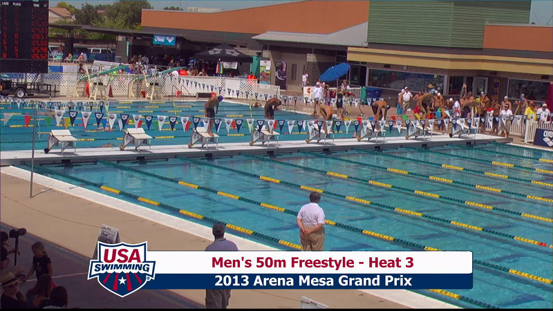 Men's 50m Freestyle Heat 3 - 2013 Arena Mesa Grand Prix