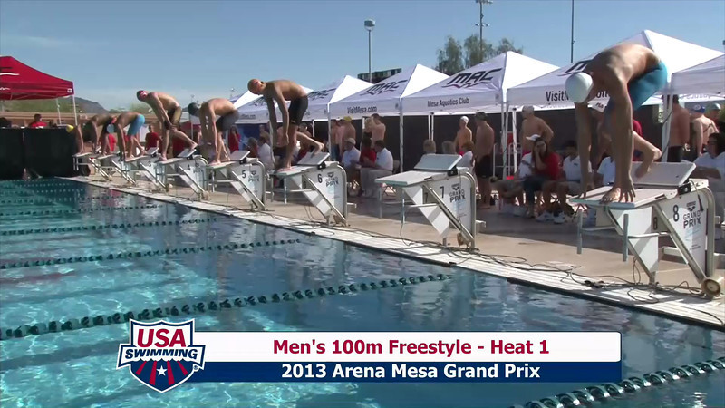 Men's 100m Freestyle Heat 1 - 2013 Arena Mesa Grand Prix