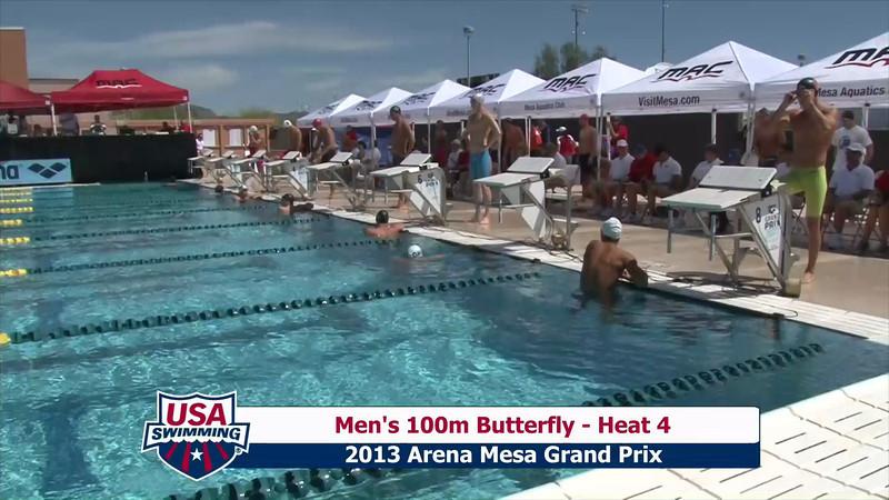 Men's 100m Butterfly Heat 4 - 2013 Arena Mesa Grand Prix