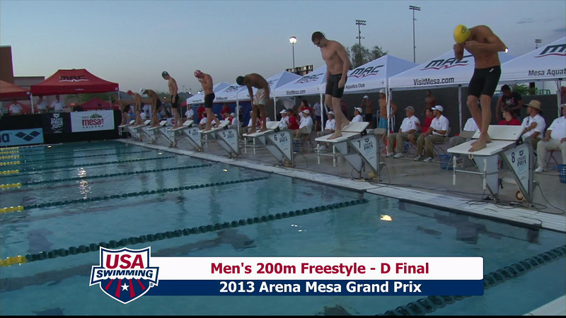 Men's 200m Freestyle D Final - 2013 Arena Mesa Grand Prix