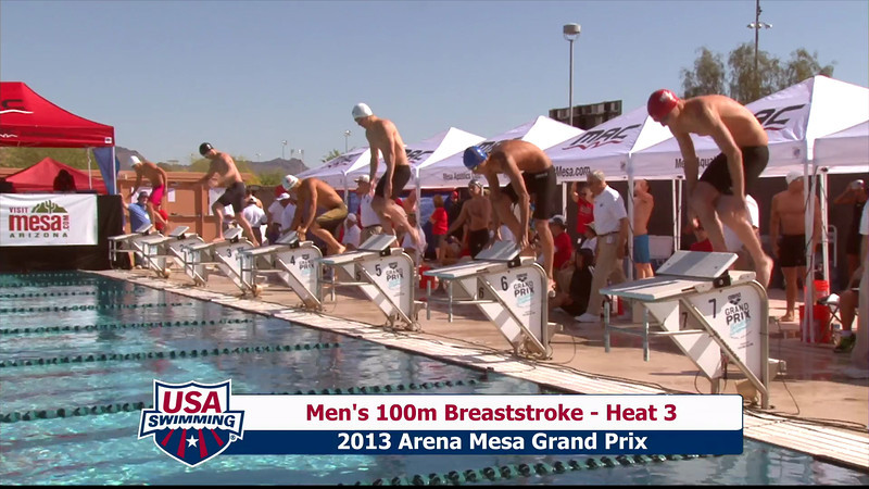 Men's 100m Breaststroke Heat 3 - 2013 Arena Mesa Grand Prix