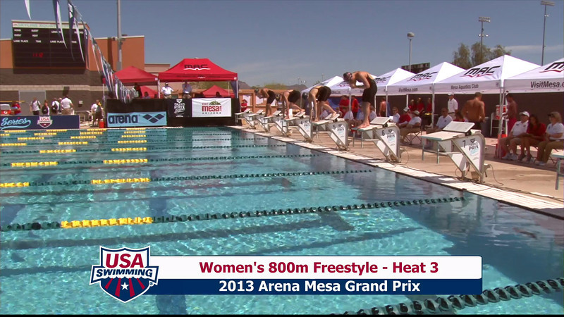 Women's 800m Freestyle Heat 3 - 2013 Arena Mesa Grand Prix