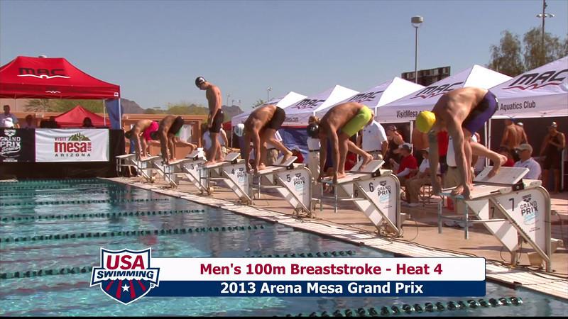Men's 100m Breaststroke Heat 4 - 2013 Arena Mesa Grand Prix
