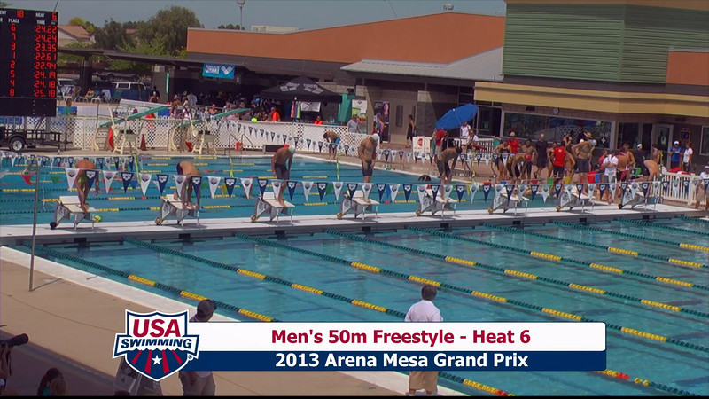Men's 50m Freestyle Heat 6 - 2013 Arena Mesa Grand Prix
