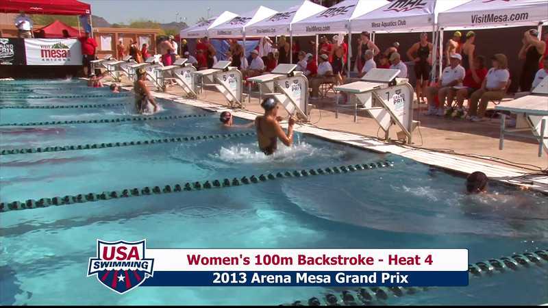 Women's 100m Backstroke Heat 4 - 2013 Arena Mesa Grand Prix