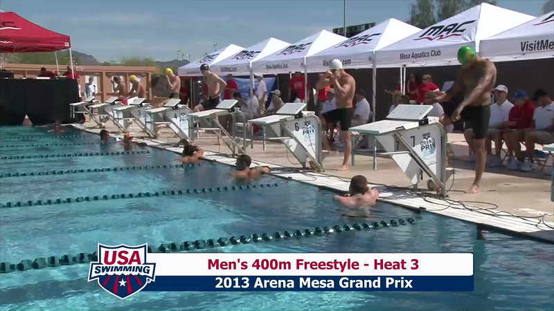 Men's 400m Freestyle Heat 3 - 2013 Arena Mesa Grand Prix