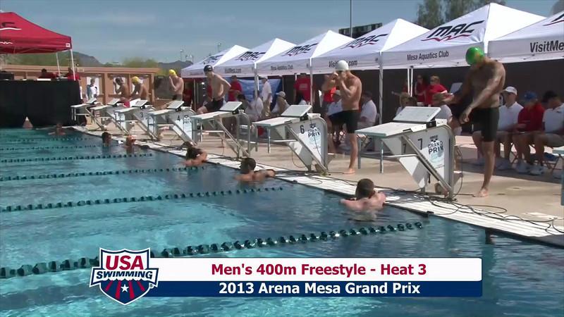 Men's 400m Freestyle Heat 3 - 2013 Arena Mesa Grand Prix