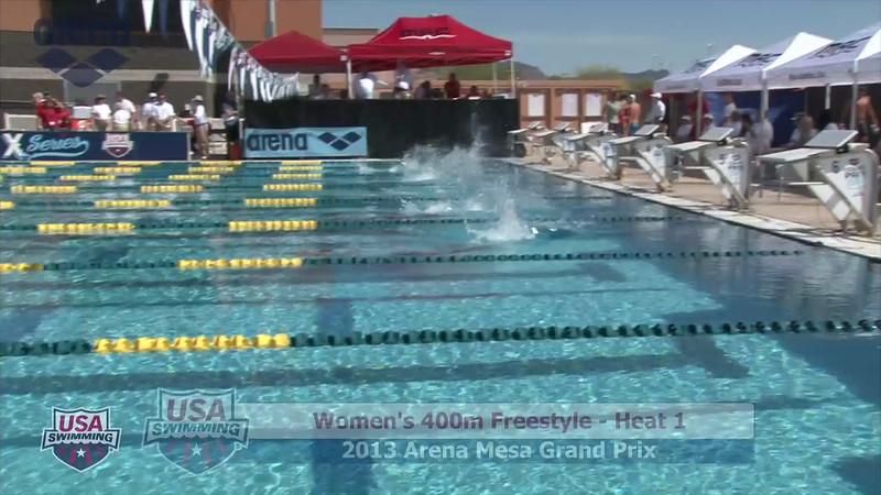 Women's 400m Freestyle Heat 1 - 2013 Arena Mesa Grand Prix