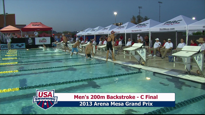 Men's 200m Backstroke C Final - 2013 Arena Mesa Grand Prix