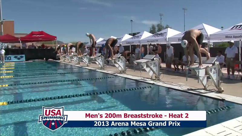 Men's 200m Breaststroke Heat 2 - 2013 Arena Mesa Grand Prix