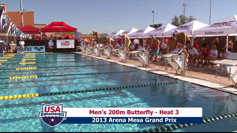 Men's 200m Butterfly Heat 3 - 2013 Arena Mesa Grand Prix