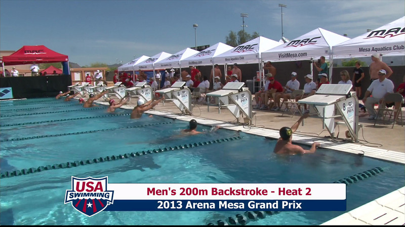 Men's 200m Backstroke Heat 2 - 2013 Arena Mesa Grand Prix