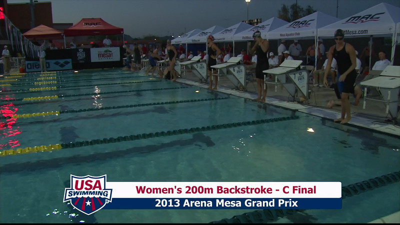 Women's 200m Backstroke C Final - 2013 Arena Mesa Grand Prix