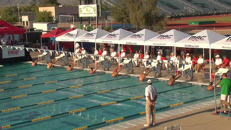 Men's 100m Backstroke B Final - 2013 Arena Mesa Grand Prix