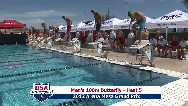 Men's 100m Butterfly Heat 5 - 2013 Arena Mesa Grand Prix