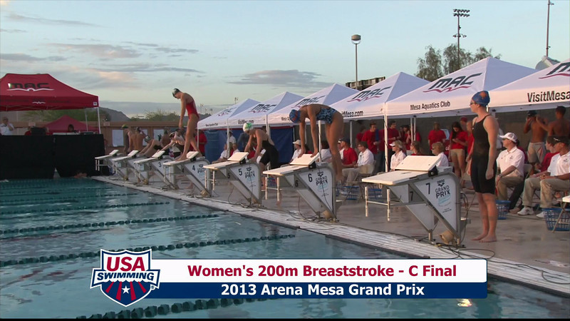 Women's 200m Breaststroke C Final - 2013 Arena Mesa Grand Prix
