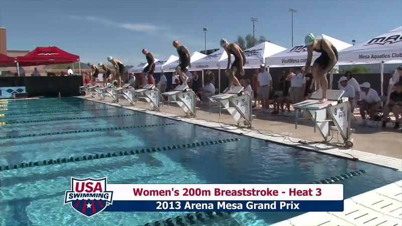 Women's 200m Breaststroke Heat 3 - 2013 Arena Mesa Grand Prix
