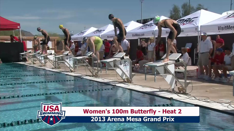 Women's 100m Butterfly Heat 2 - 2013 Arena Mesa Grand Prix