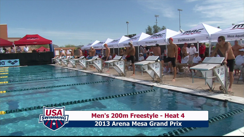 Men's 200m Freestyle Heat 4 - 2013 Arena Mesa Grand Prix