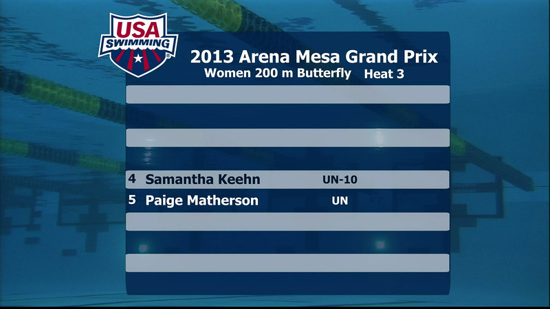 Women's 200m Butterfly D Final - 2013 Arena Mesa Grand Prix