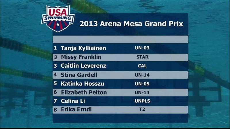 Women's 200m Individual Medley A Final - 2013 Arena Mesa Grand Prix