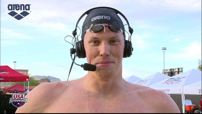 Men's 400m Freestyle A Final Interview - 2013 Arena Mesa Grand Prix