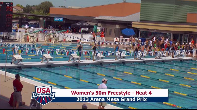 Women's 50m Freestyle Heat 4 - 2013 Arena Mesa Grand Prix