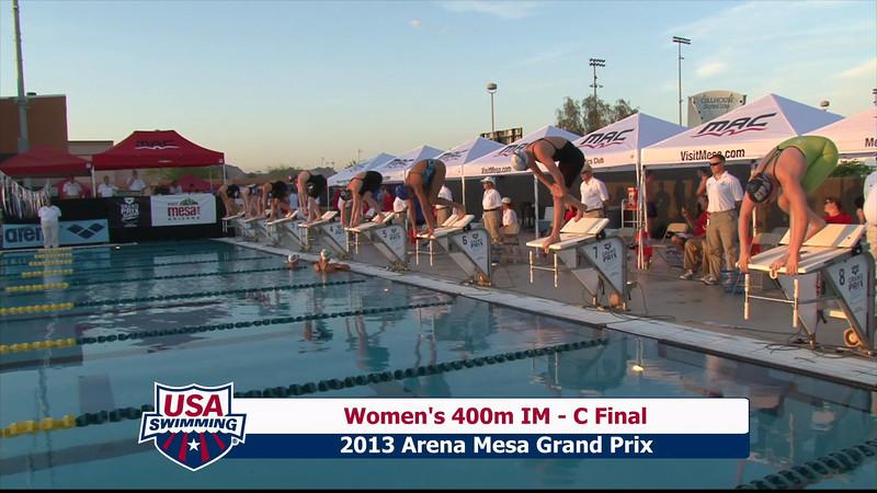 Women's 400m Individual Medley C Final - 2013 Arena Mesa Grand Prix