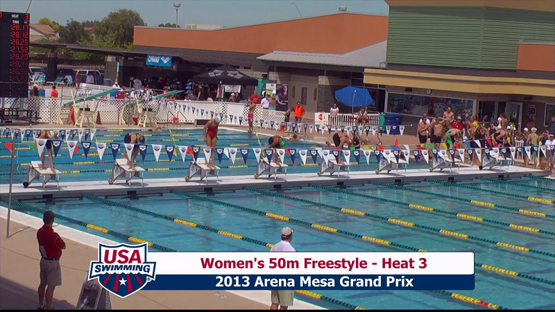 Women's 50m Freestyle Heat 3 - 2013 Arena Mesa Grand Prix