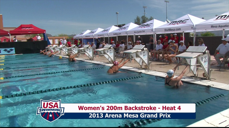 Women's 200m Backstroke Heat 4 - 2013 Arena Mesa Grand Prix