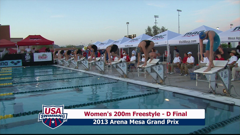 Women's 200m Freestyle D Final - 2013 Arena Mesa Grand Prix