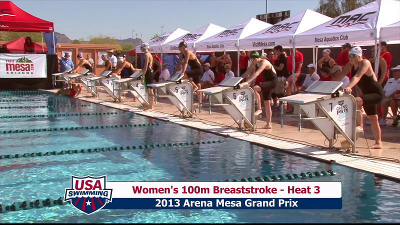 Women's 100m Breaststroke Heat 3 - 2013 Arena Mesa Grand Prix
