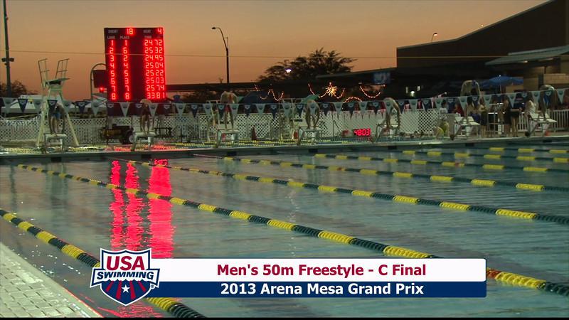 Men's 50m Freestyle C Final - 2013 Arena Mesa Grand Prix
