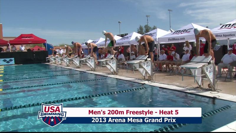 Men's 200m Freestyle Heat 5 - 2013 Arena Mesa Grand Prix