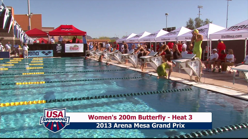 Women's 200m Butterfly Heat 3 - 2013 Arena Mesa Grand Prix