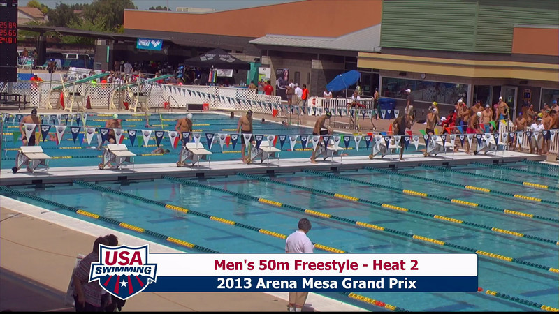 Men's 50m Freestyle Heat 2 - 2013 Arena Mesa Grand Prix