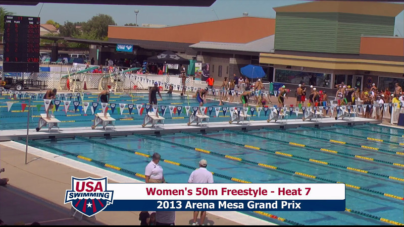 Women's 50m Freestyle Heat 7 - 2013 Arena Mesa Grand Prix