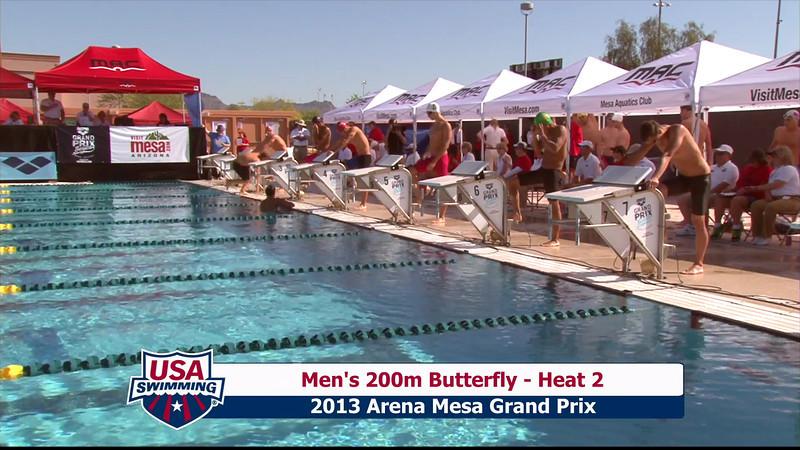 Men's 200m Butterfly Heat 2 - 2013 Arena Mesa Grand Prix